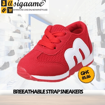 Baby Boys Girls Lightweight Breathable Strap Sneakers