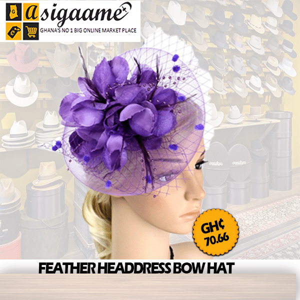 FEATHER HEADDRESS BOW HAT