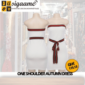 One Shoulder Autumn Dress