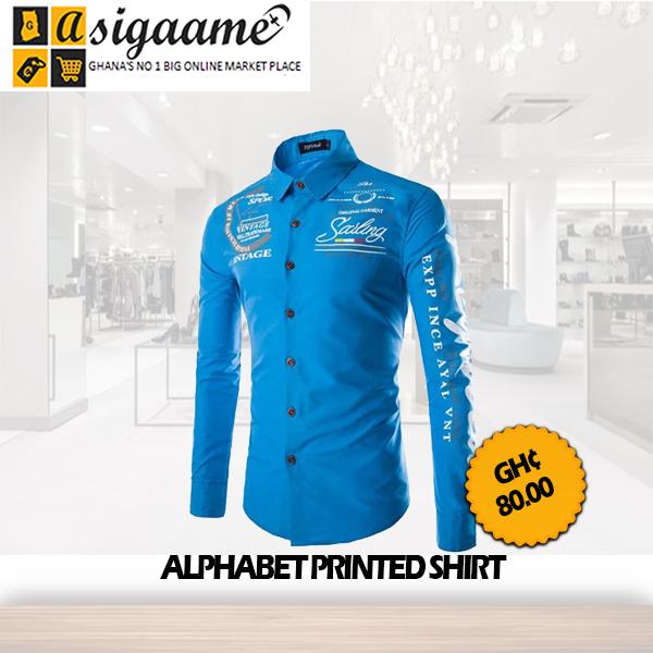 ALPHABET PRINTED SHIRT
