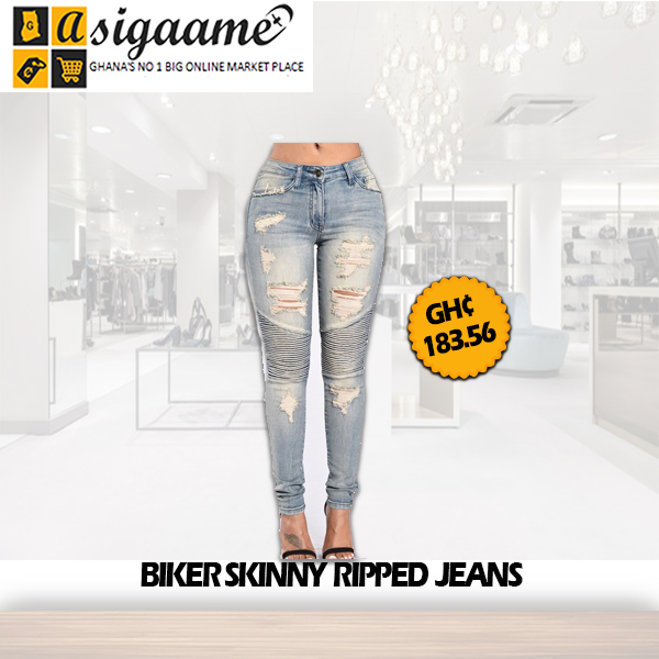 Biker Skinny Ripped Jeans
