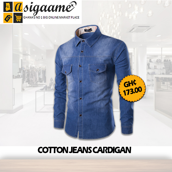 Cotton Jeans Cardigan