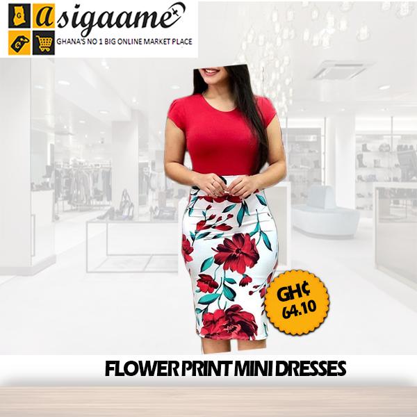 Flower Print Mini Dresses