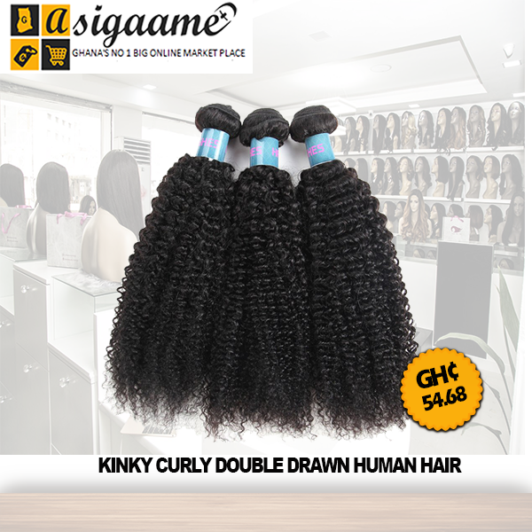 Kinky Curly Double Drawn Human Hair