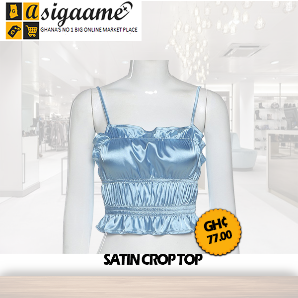 Satin Crop Top