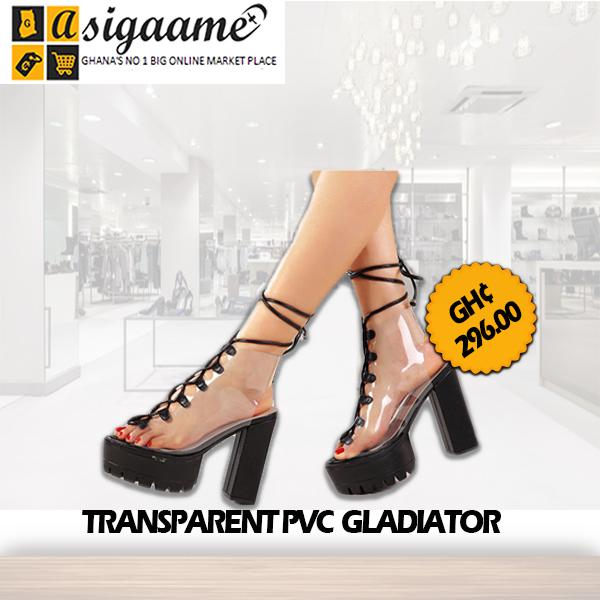 TRANSPARENT PVC GLADIATOR