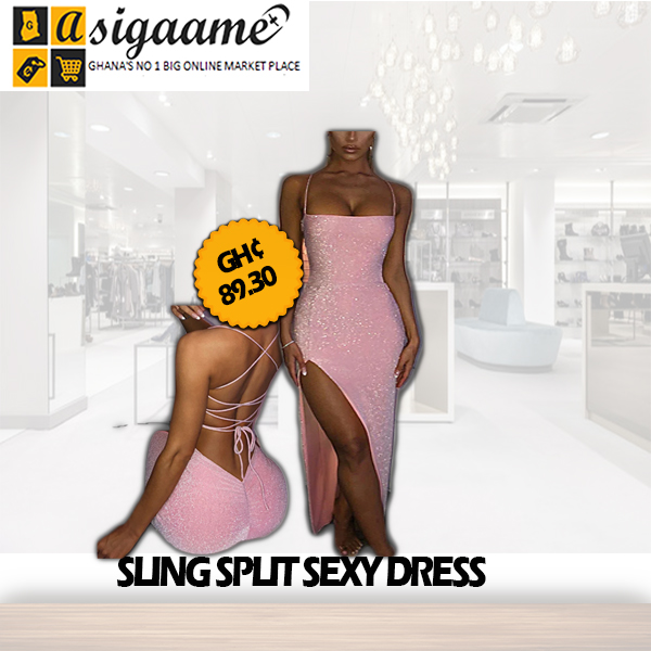 SLING SPLIT SEXY DRESS