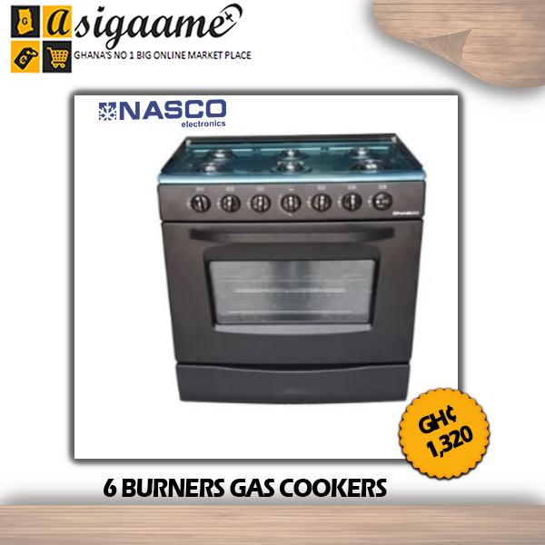 6 BURNERS GAS COOKERS
