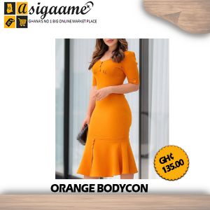 ORANGE BODYCON
