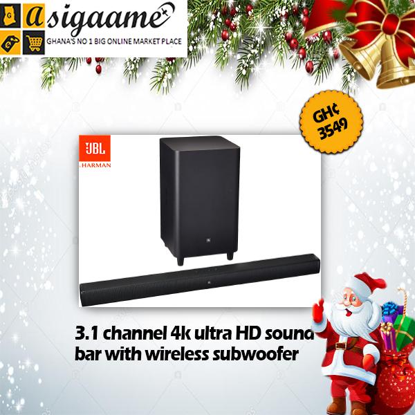 3.1 channel 4k ultra HD soundbar with wireless subwoofer