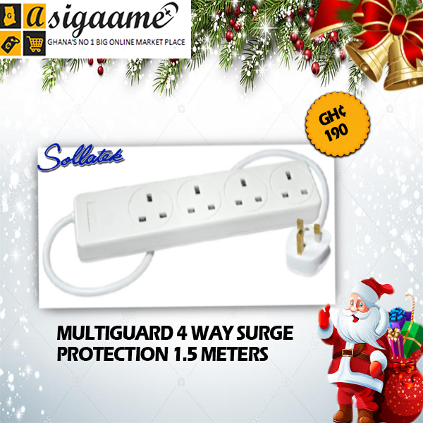 MULTIGUARD 4 WAY SURGE PROTECTION 1.5 METERS