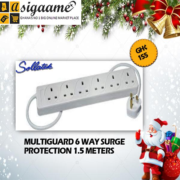 MULTIGUARD 6 WAY SURGE PROTECTION 1.5 METERS
